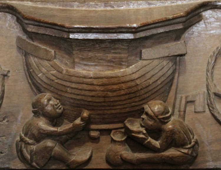Shipwrights - St David's Cathedral Misericord